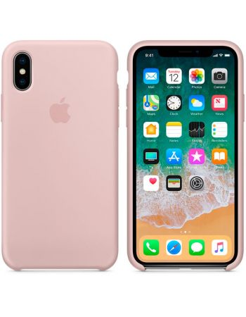 Чехол для iPhone Apple iPhone X Silicone Case Pink Sand